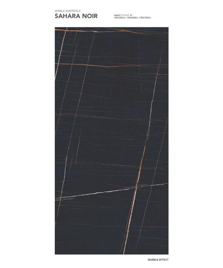 Gresie Sahara Noir Lucios 160x320x0,6 cm