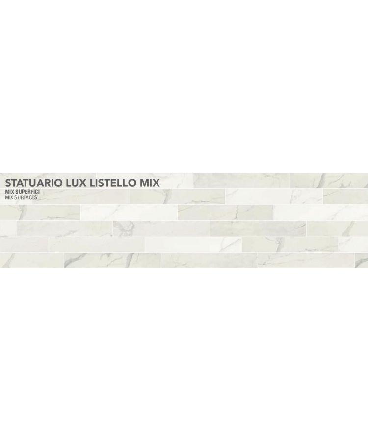 Gresie Statuario Lux Listello Mix 10x30 cm