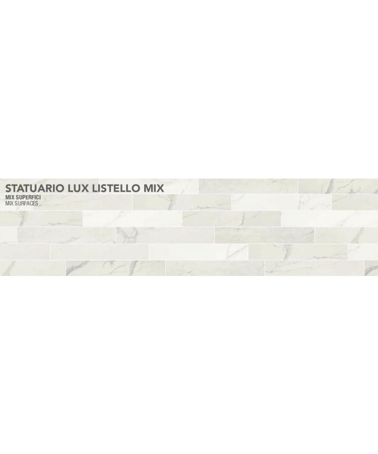 Gresie Statuario Lux Listello Mix 20x120 cm