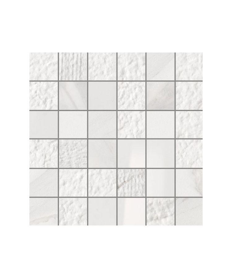 Mozaic pe plasa Statuario Lux Mix 30x30 cm