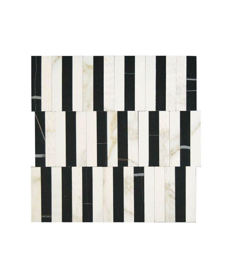 Mozaic pe plasa Calacatta Gold Stripe 27.2x29 cm