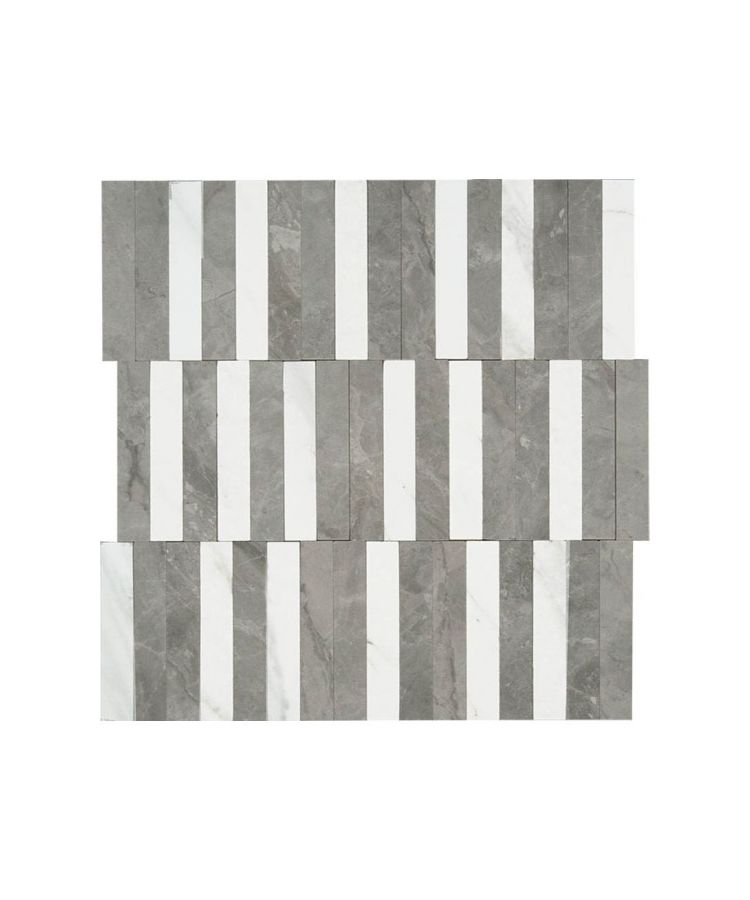 Mozaic pe plasa Orobico Grey Stripe 27.2x29 cm