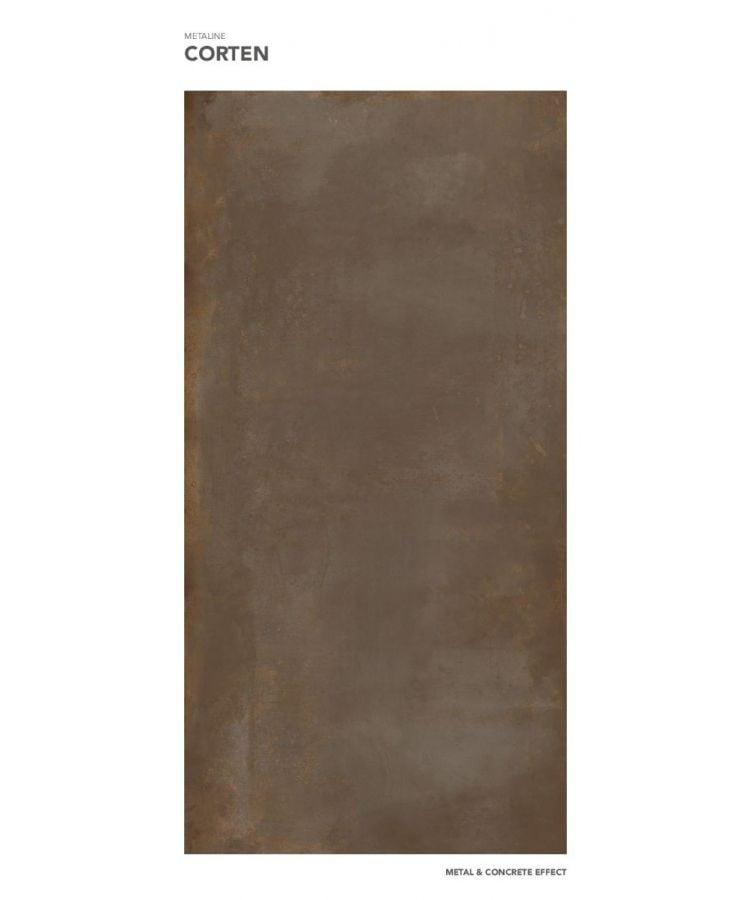 Gresie Metaline Corten mat 120x260x0,6 cm