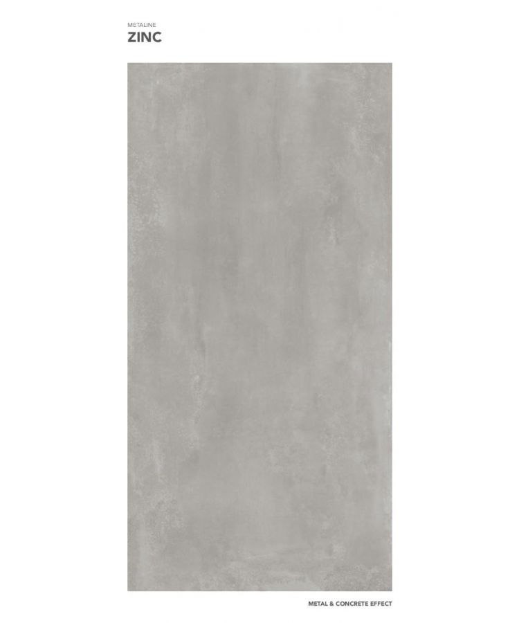 Gresie Metaline Zinc mat 120x260x0,6 cm
