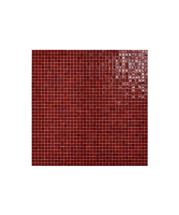 Mozaic Sticla Red Passion 15x15 pe plasa 30x30