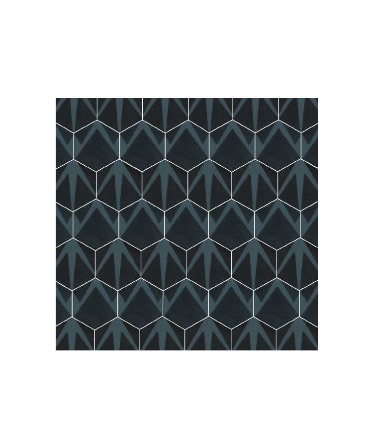 Gresie Hexagonala Decor Occitania Auvernha Noir 18x21