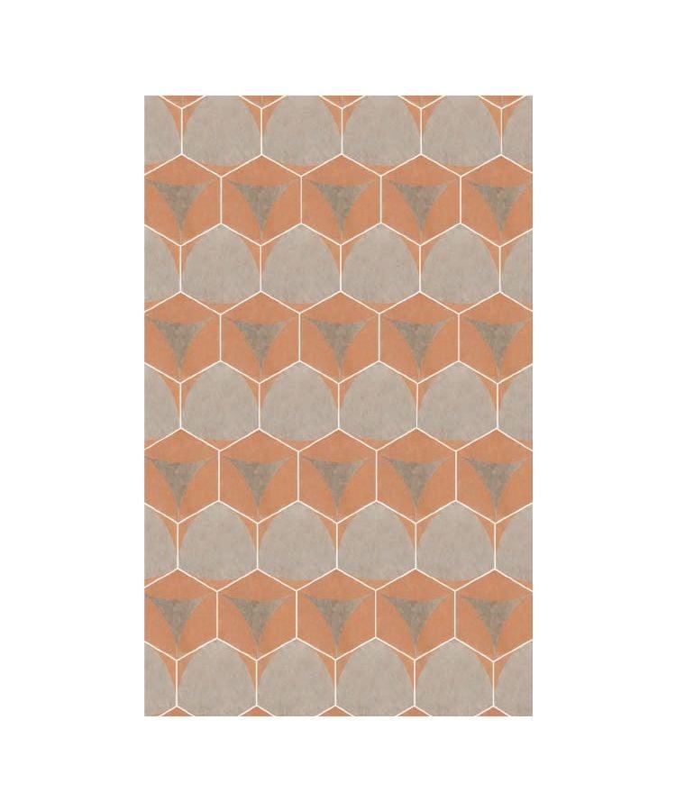 Gresie Hexagonala Decor Occitania Guascona Taupe 18x21