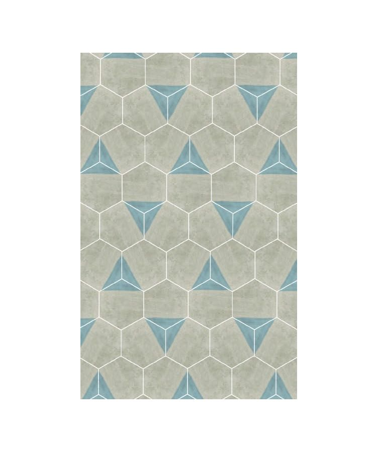 Gresie Hexagonala Decor Occitania Provenca Beige 18x21
