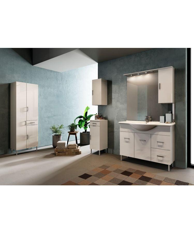 Set Complet Mobilier Baie Palma Bianco Matrix  L75 cm