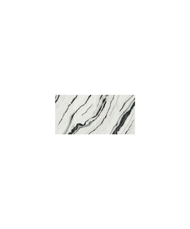 Gresie Panda White Lucios Vena Continua 160x320x0,6 cm Fotografie compusa din 4 lastre