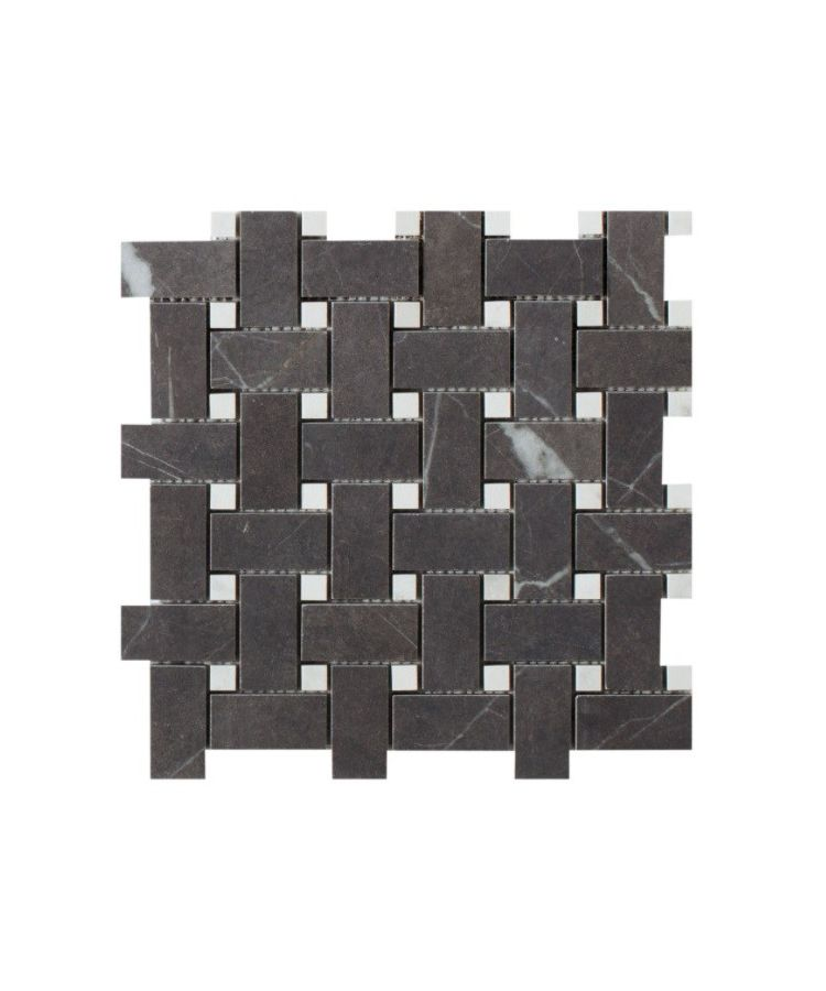 Mozaic pe plasa Basketwave Pietra Grey 30x30 cm