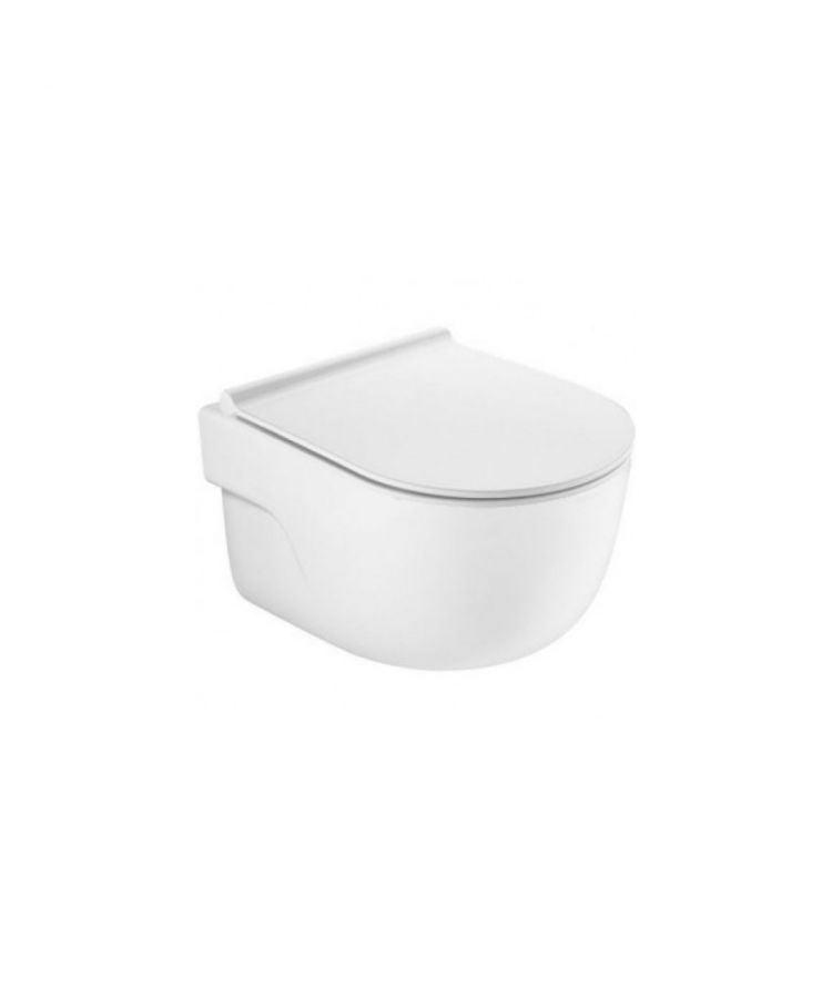 Vas WC Suspendat Roca Meridian Rimless cu capac Slim