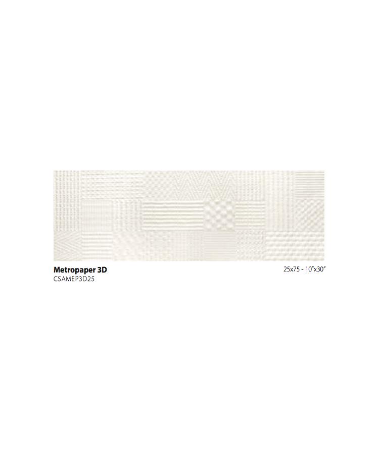Faianta Metrochic-Metropaper 3d 25x75