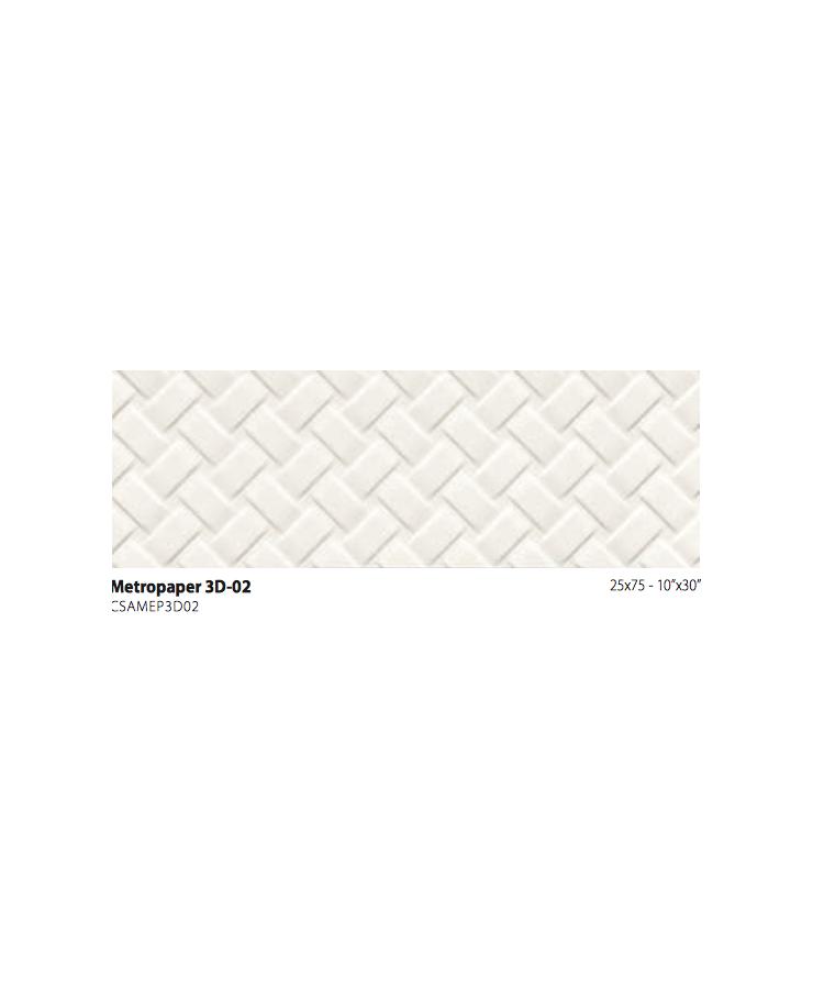 Faianta Metrochic-Metropaper 3d-02 25x75