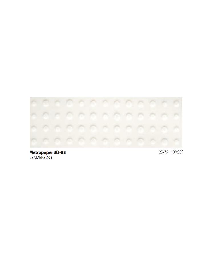 Faianta Metrochic-Metropaper 3d-03 25x75