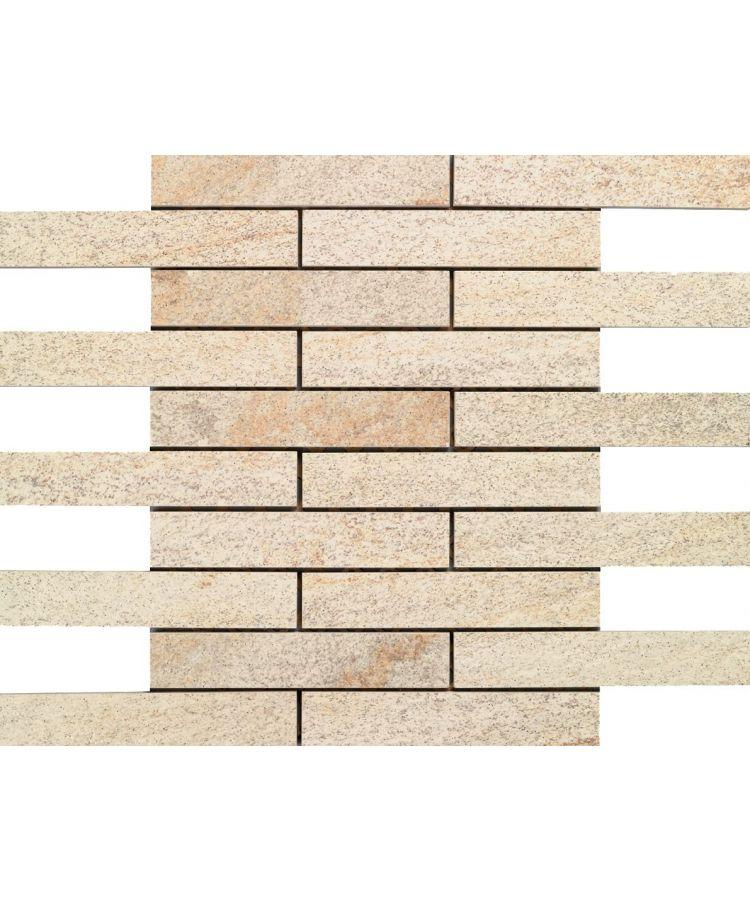 Mozaic pe plasa Stone D Mosaico B Quarzite Dorada 30x30 cm