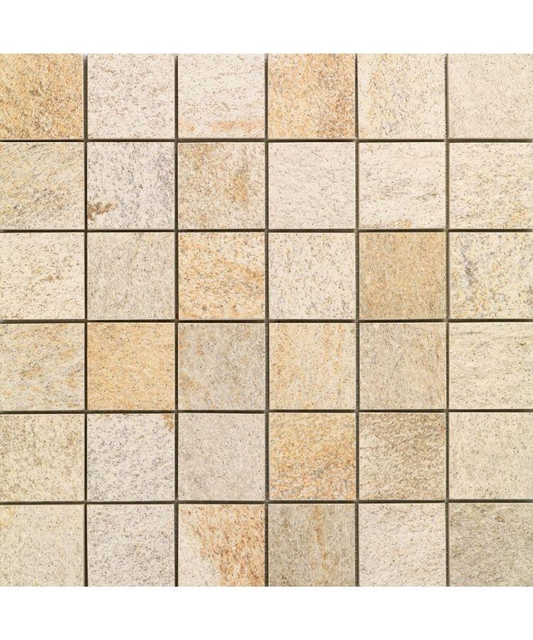 Mozaic pe plasa Stone D Mosaico A Quarzite Dorada 30x30 cm