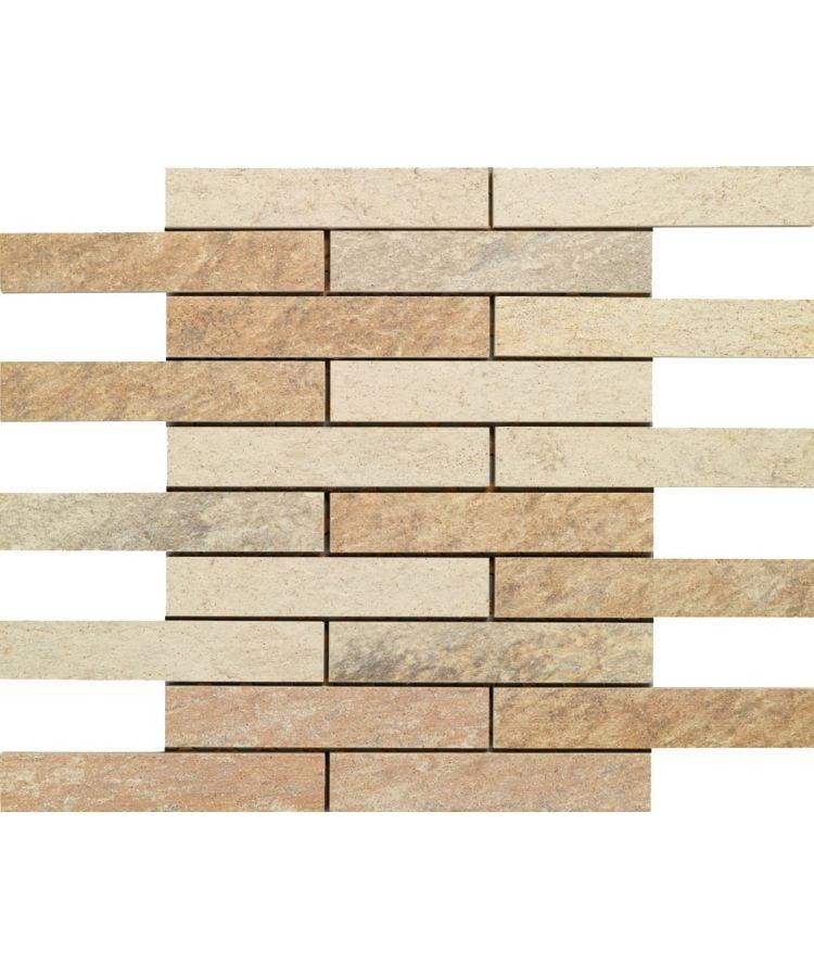 Mozaic pe plasa Stone D Mosaico B Quarzite Multicolor 30x30 cm