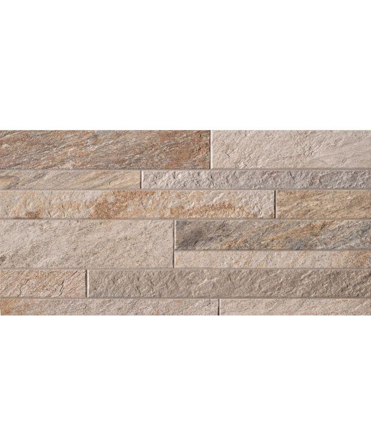 Gresie Stone D Quarzite Multicolor 20x60cm  Foto compusa din placi 60x60 cm