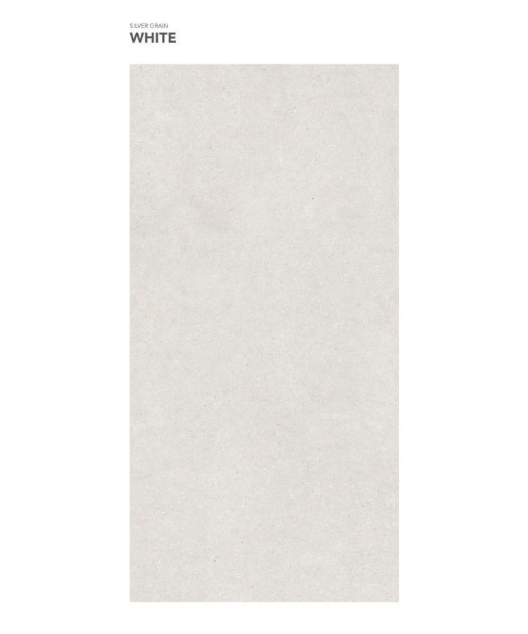 Gresie Silver Grain White mat 160x320x0,6 cm