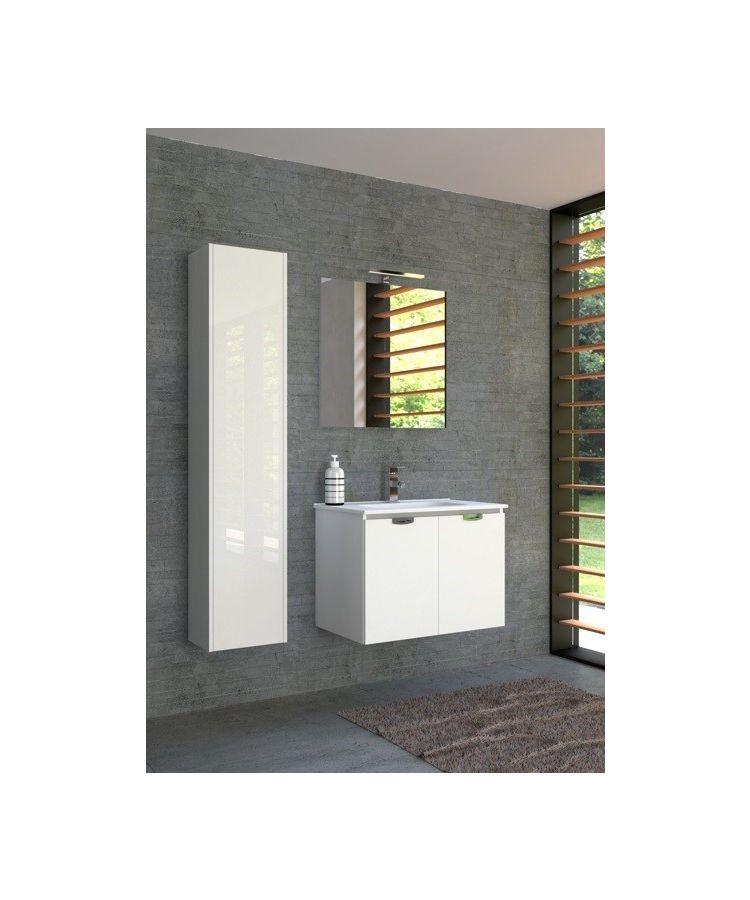 Set Complet Mobilier Baie Slim Bianco L75 cm