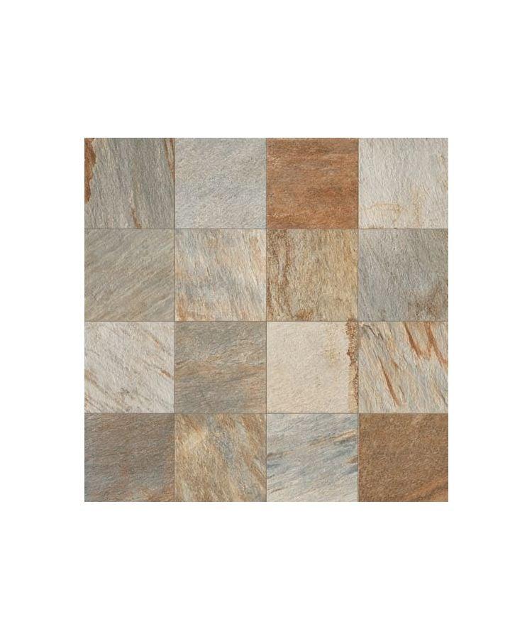 Gresie Stone D Quarzite Multicolor 15x90 cm  Foto compusa din placi 60x60 cm