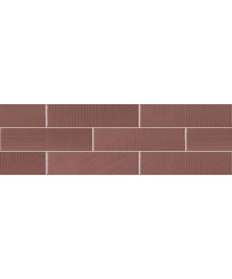 Faianta Stripebrick Mauve 7.3x30