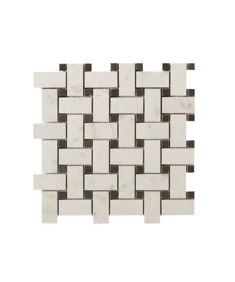 Mozaic pe plasa Basketwave Taj Mahal 30x30 cm