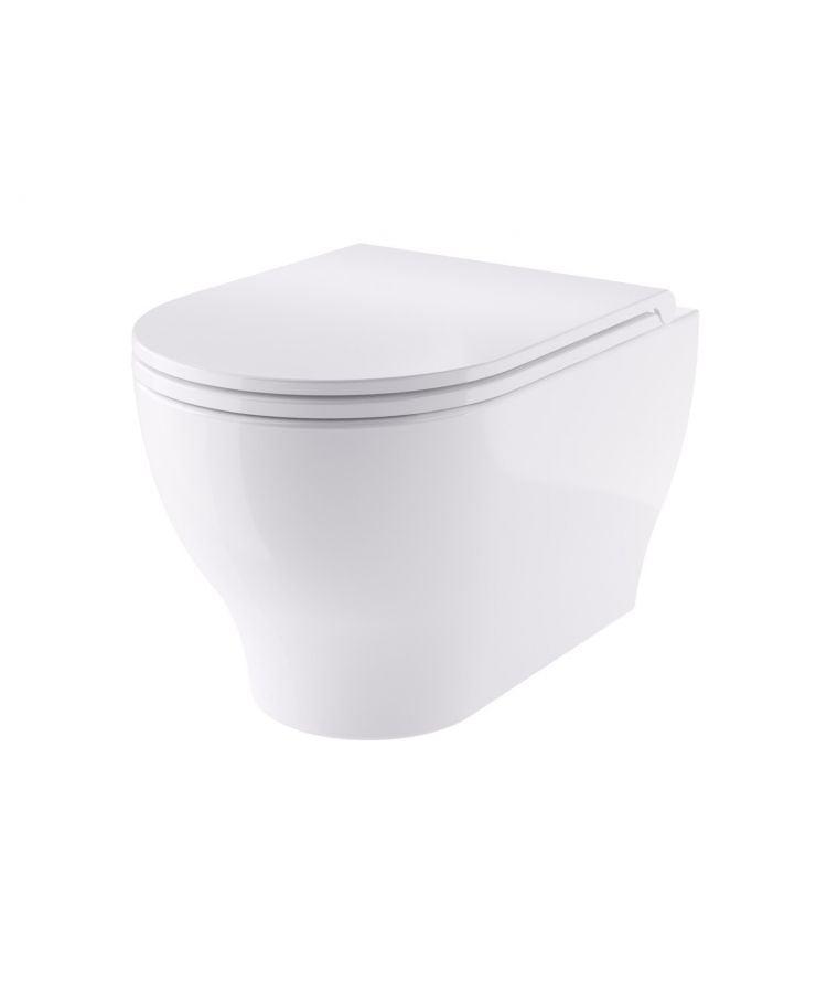 Vas WC Suspendat Rimless Hidra Venus Cu Capac Soft-Close
