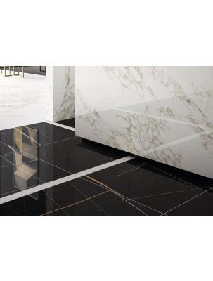 Lastra Gresie Slim 6 mm Mega Sahara Noir-120x260x0,6 cm
