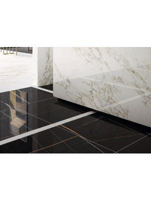 Lastra Gresie Slim 6 mm Mega Sahara Noir-120x120x0,6 cm