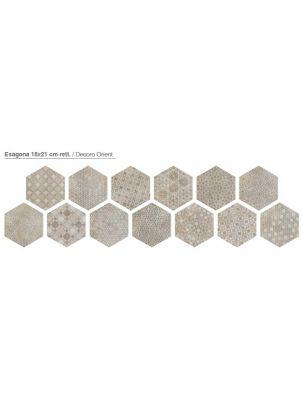 Decor Gresie Hexagonala Bibulca Orient 18x21