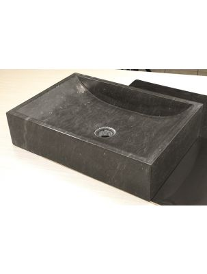 Lavoar Bazalt Quadrato Nero 35x50 h12