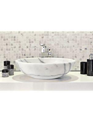 Lavoar Piatra Ellissi Bianco 40,6x53 cm