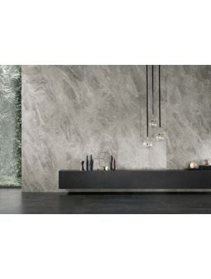 Lastra Gresie Slim 6 mm Mega Orobico Grey-120x120x0,6 cm