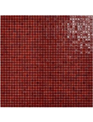 Mozaic Sticla Red Passion 15x15 pe plasa 30x30